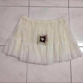 [reduced] White Multi Layered Chiffon Skirt