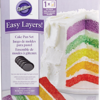 (Reserved)BN Wilton 2105-0112 Easy Layers! 5-Piece Cake Pan Set, 6-Inch