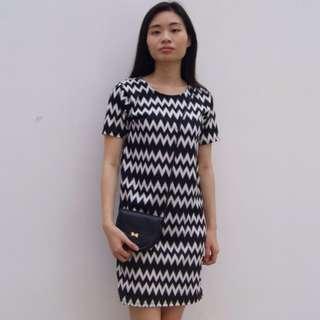 Chevron Straight Dress
