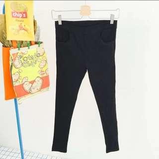黑色彈性褲🌑現貨M+L✅全保留