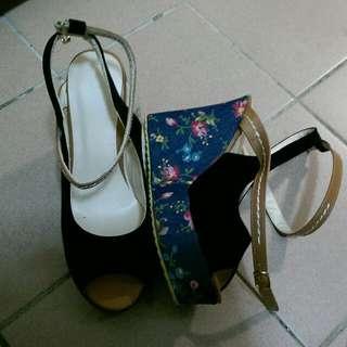 專櫃楔形涼鞋