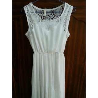 (保留)女神白長洋裝