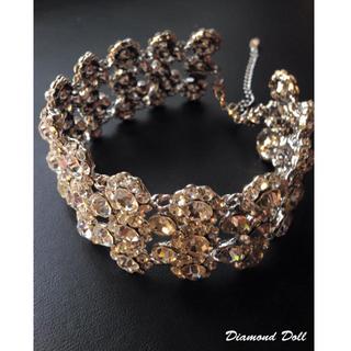 白鑽華麗頸鍊+白鑽耳環(夾式) / 優雅質感.派對.新娘.新秘婚禮必備