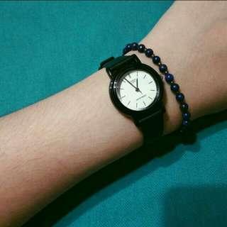 全新 casio 手錶 學生 簡約 防水 小錶面 女錶 黑白兩色