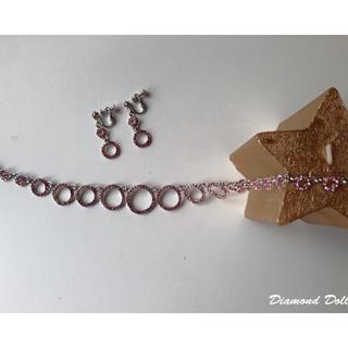 Swarovski施華洛世奇水鑽項鍊+耳環(夾式)