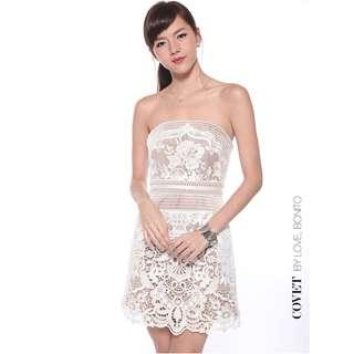 BNWT Love Bonito Covet Addisyn Lace Dress (White)