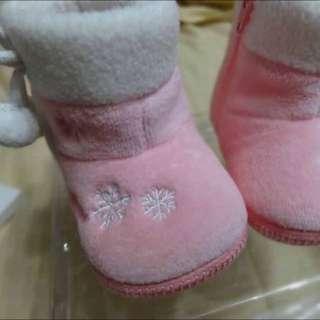 童-愛的世界 全新粉色雪靴