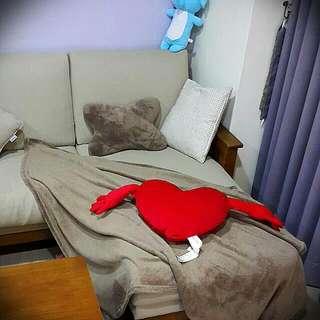 寒流來襲🔊全新時尚珊瑚絨毯枕組-懶人毯+枕