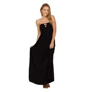 Roxy 背後鏤空黑色長裙