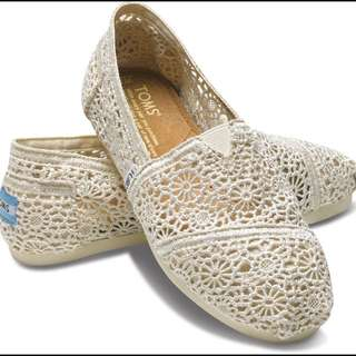 Inspired Toms Natural Crochet Shoes