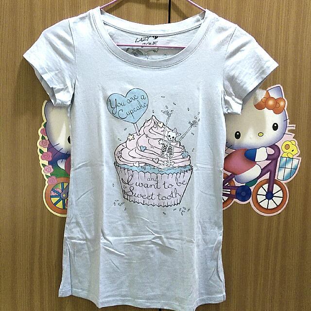 (已預訂)Lazy Bone T-shirt 粉紫