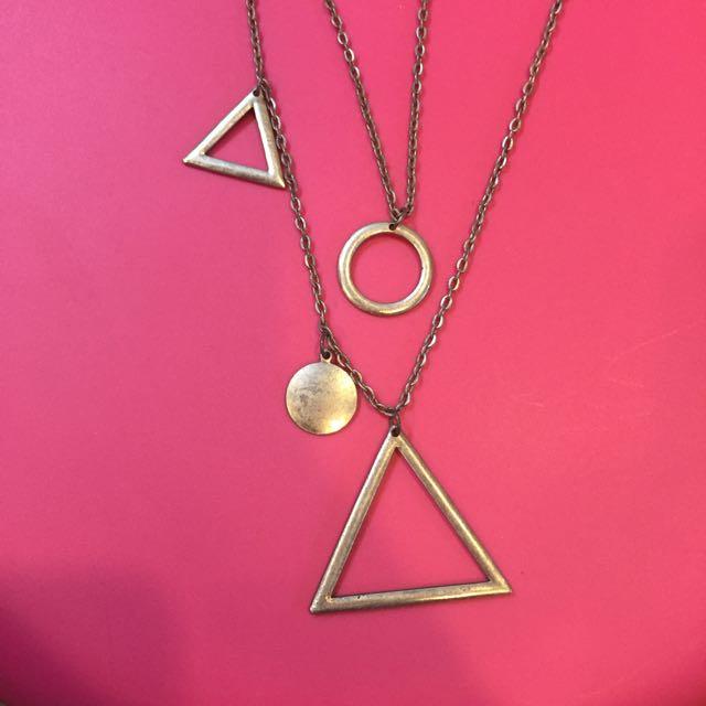 幾何造型長項鍊