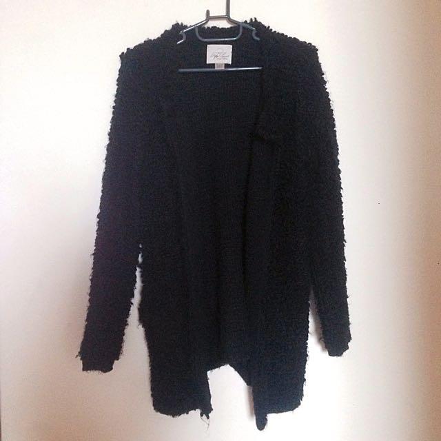 黑色毛衣外套(二手)