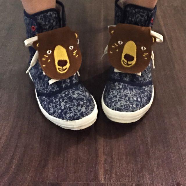 古著 全麂皮小熊造型鞋舌(代售)