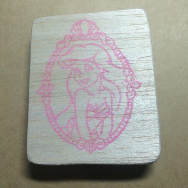 小美人魚手刻印章 送印泥