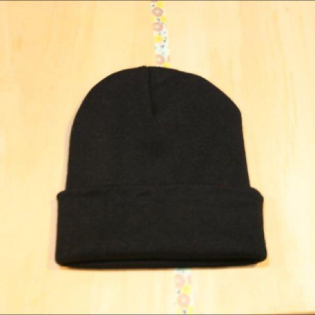 素色毛帽 黑色毛帽 針織毛線帽