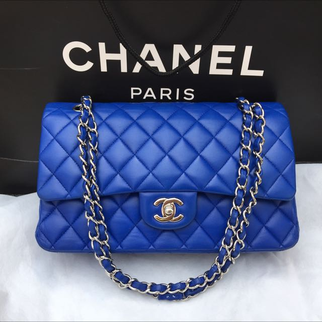 021ee413c94 Chanel Medium Double Flap In Blue