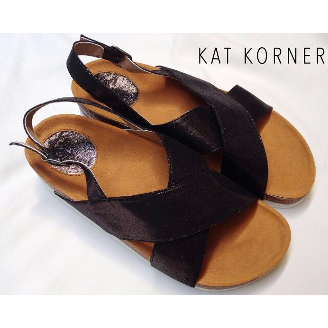 Cora Sandal In Midnight Black