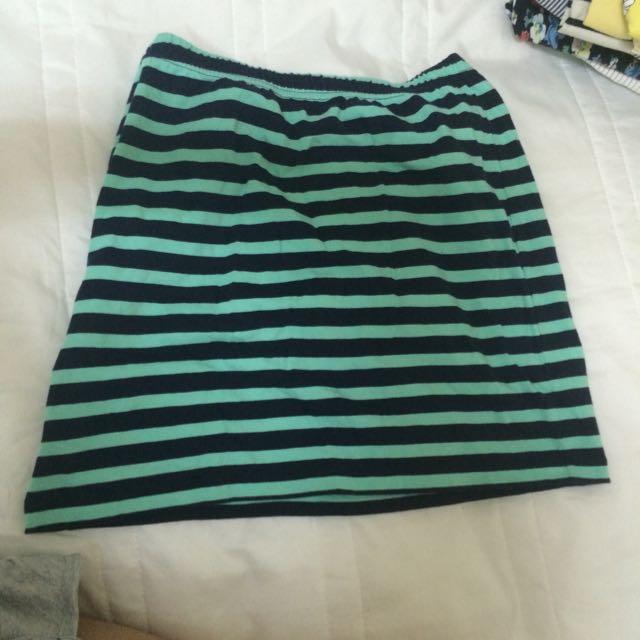 Lativ 條紋棉裙