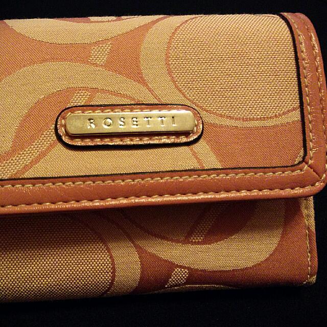 Pink Rosetti Wallet, Brand New