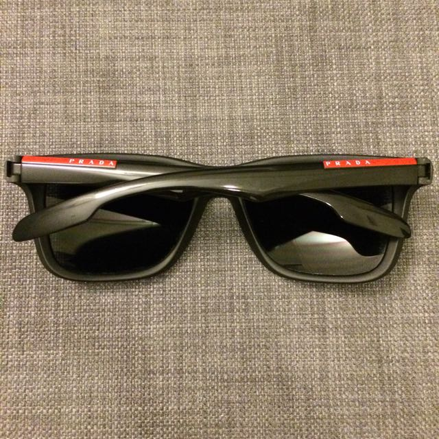 136af1d751 Prada Sport PS 04O 1AB 5Z1 Black Sunglasses