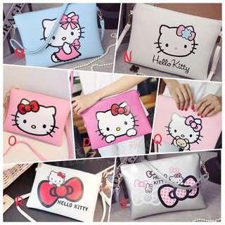 🎀抗漲🎀韓版 Hello Kitty 卡通印花 信封包 收納包 手拿包 單肩包