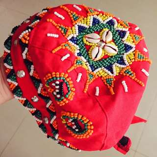 原住民風純手工帽