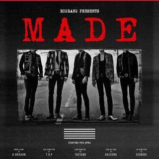 Bigbang MADE 2015 9/25 搖滾特區兩張