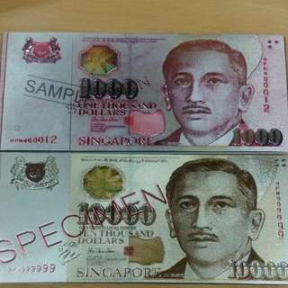Singapore Currency Magnet