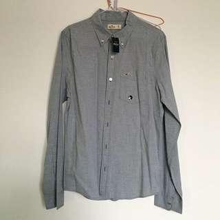 降價)Hollister 霧灰色襯衫(男)