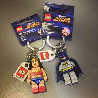 LOGO 樂高 Batman / Wonder Woman 鑰匙圈