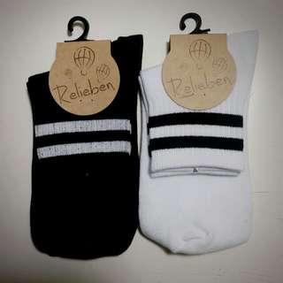 條紋 橫線 短襪 學生襪