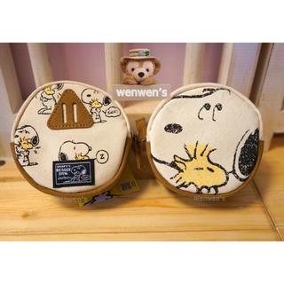 【Wenwens】日本帶回 SNOOPY 史努比 史奴比 PEANUTS 帆布 雙面 零錢包 置物小包 收納包(單售價)