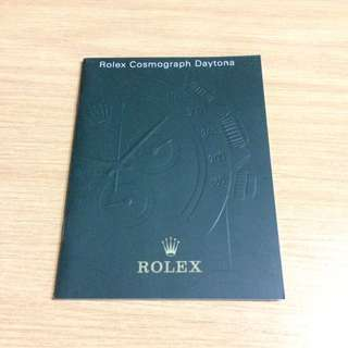 Rolex Daytona Manual/Booklet