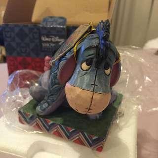 [玩具收藏出清]HK Disney 香港迪士尼購入,手工木雕刻 小熊維尼 驢子Eeyore 裝飾收藏