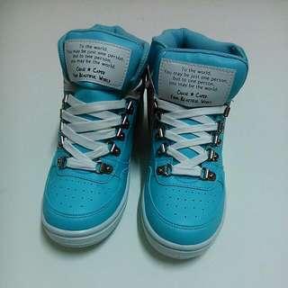 富發牌內增高球鞋—淺藍色