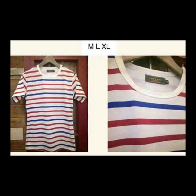 紅2藍1簡稱21線的橫條紋t恤🐹