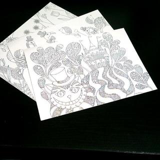 含運/愛麗絲奇幻夢境 著色明信片