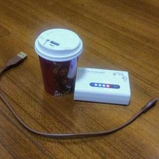 行動電源🔌咖啡杯造型+白色方塊