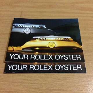 Rolex Oyster Manual/Booklet