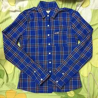 降✨HOLLISTER 寶藍色襯衫xs 九成新