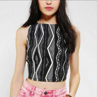Urban Outfitters Printed Crop Top