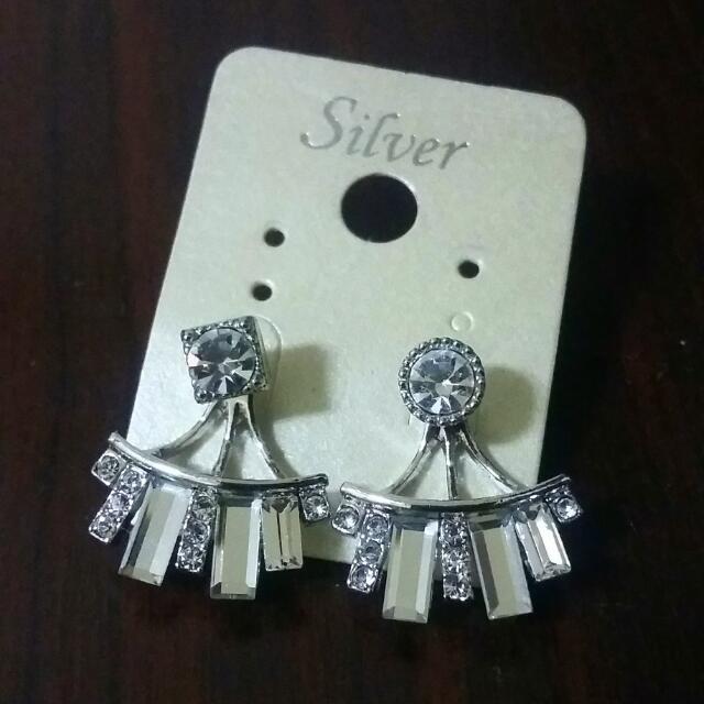 韓國水晶鑽耳環