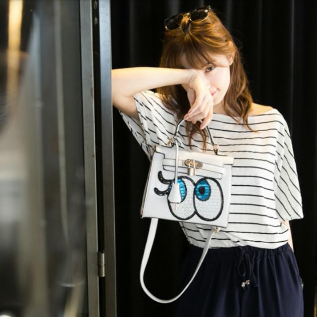 韓國 超夯 亮片眼睛包 鎖頭包