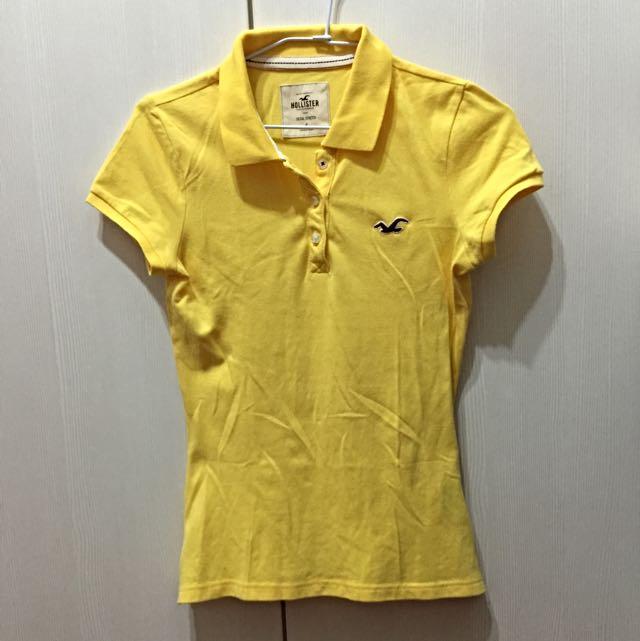 🎉特價 [HOLLISTER美國海鷗] 真品 美國帶回 黃色POLO衫