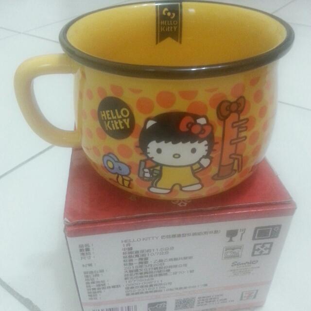 Kitty 造型杯碗組【附杯墊】