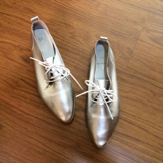 Starmimi銀色尖頭鞋