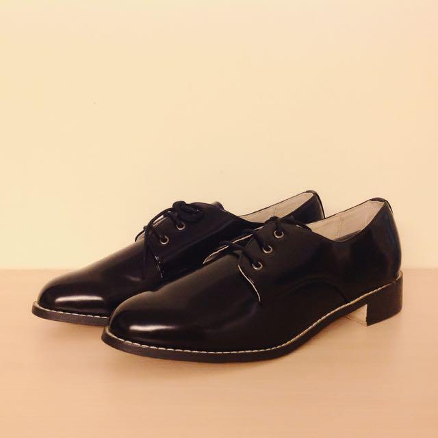 TOPSHOP正品 低跟漆皮皮鞋 牛津鞋