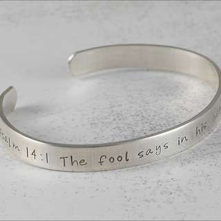 Silver Bangle with Name Engraved