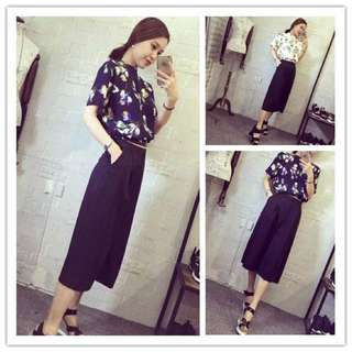 One Set Two Piece, Blouse + Culottes